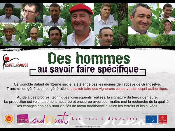 Panneau en dibond – AOC Saint-Sardos