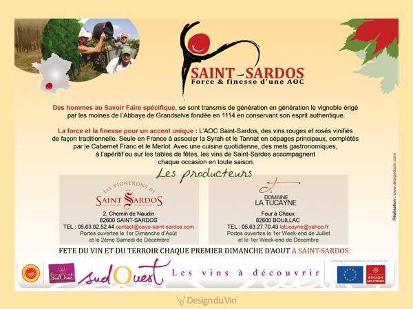 Encart publicitaire – La Dépêche – AOC Saint-Sardos