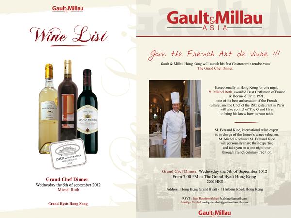 Plaquettes et Menus – Gault & Millau – Michel Roth