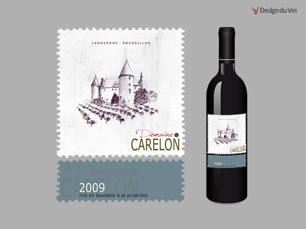 Etiquette de bouteille – Domaine Carelon