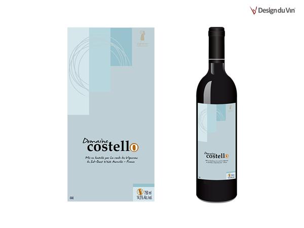 Etiquette de bouteille – Domaine Costello